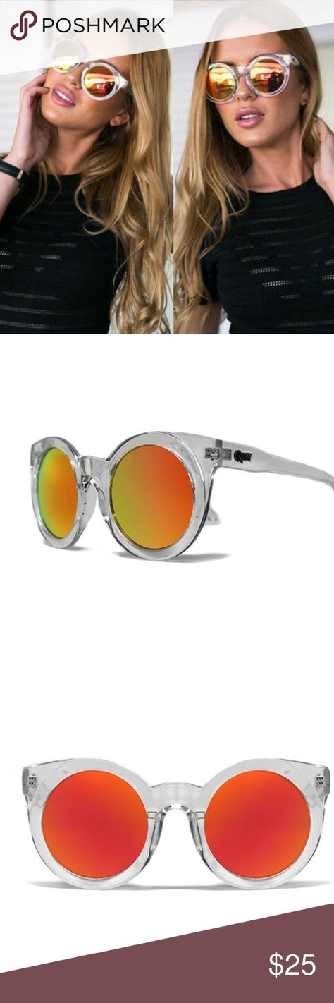 3cc45d4840b Quay Australia Sunday Girl Clear Sunglasses Super cute sunnies by Quay  Australia. Clear frames with