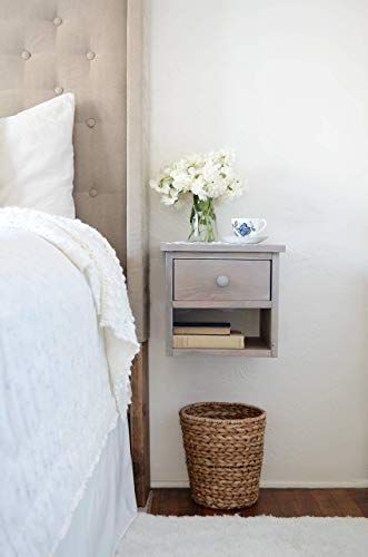 New Floating Nightstand Driftwood Bedside Table Wooden
