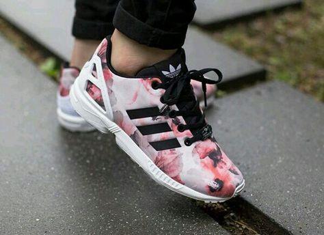 adidas zx flux rose fleur