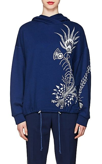 We Adore The Feather Print French Terry Hoodie From Dries Van Noten At Barneys New York Tops Designs Ladies Top Design French Terry Hoodie