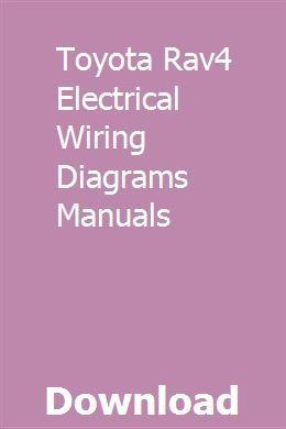 toyota rav4 wiring diagram pdf toyota rav4 electrical wiring diagrams manuals ziofromanhem  toyota rav4 electrical wiring diagrams