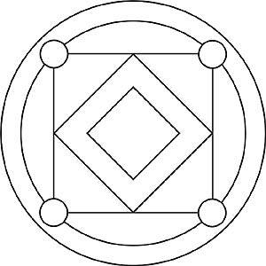 Mandala für Kinder mit Quadrate und Kreise | Mandalas ...