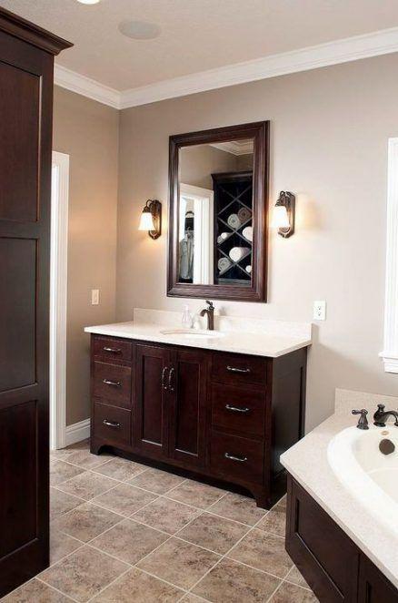 Bathroom Paint Colors With Oak Cabinets Shower Curtains 43 Ideas Vannaya V Krasnom Cvete Korichnevaya Mebel Vannaya