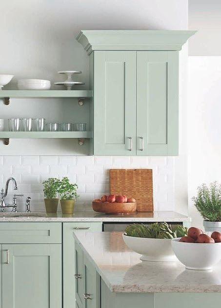20 Gorgeous Green Kitchen Cabinet Ideas Painting Kitchen Cabinets Popular Kitchen Cabinet Color Ideas 10 Green Green Kitchen Cabinets Kitchen Cabinets Kitchen