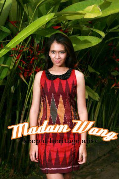 tenun red dress
