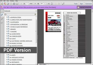 A 2002 2003 2004 2005 2006 2007 2008 Dodge Ram Factory Service Repair Fsm Manual