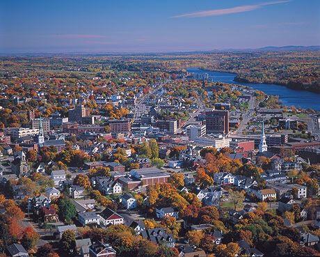 Aerial view of Bangor, Maine | Bangor maine, Maine, Bangor
