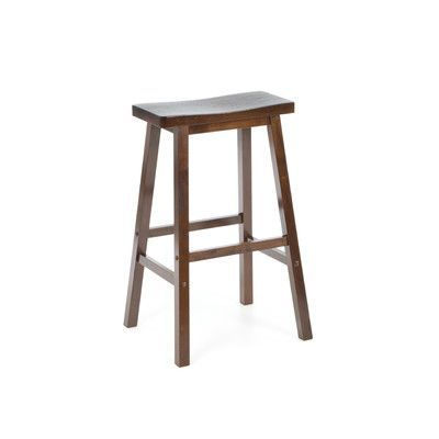 Winsome Bar Stool Saddle Seat 29 In Walnut 39 80 Wooden Bar