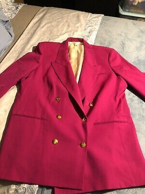 Austin Reed Womens Pink Suit Jacket Gold Buttons 18w Suits For Women Austin Reed Pink Suit
