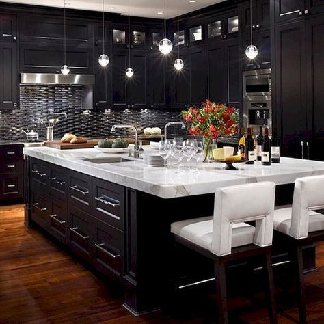 Awesome Black And White Kitchen Floor Tiles Modern Black Kitchen