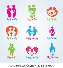 My Family People Modern Logo Vector Design Logotipo De La Familia Logo Familia Logotipos