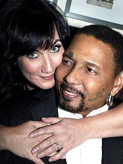 """Sarah and Aaron Neville Wedding Picture. """"I fell in love again with Sarah. I'm happy I'm alive and moving in the right direction with a new life in New York. """" -Aaron Neville"""