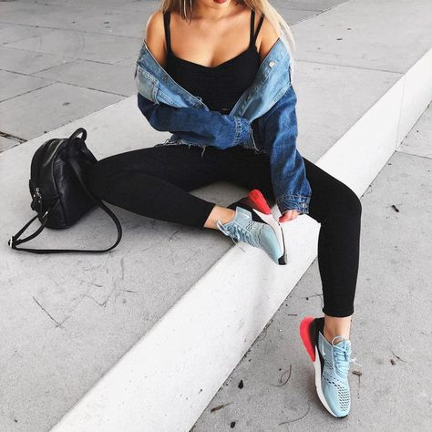 L& Streetstyle-Outfit mit den neuen Nike Air Max 270 Sneakern.