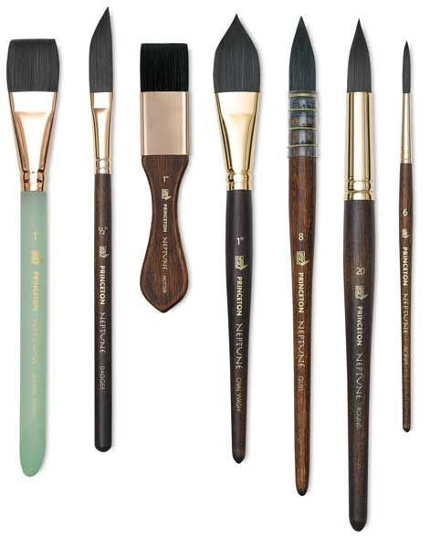 Princeton Neptune Series 4750 Synthetic Squirrel Brushes And Sets