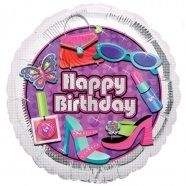 Happy Birthday 18 Girly Foil Balloon All Our Balloons Can Be Made Into Bouquets Follow Us For More Ideas