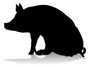 Pig Silhouette Farm Animal Pig Silhouette Silhouette Art Animal Silhouette