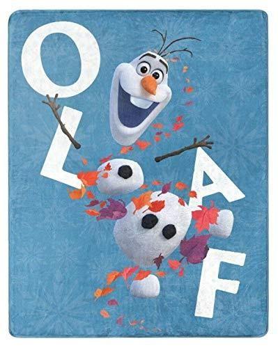 NORTHWEST ENTERPRISES Disney Frozen 2 Olaf Silky Soft Throw Blanket 40 x 50 Olaf's Adventures II - Default