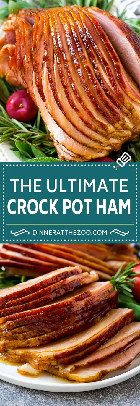 Crock Pot Ham Recipe   Slow Cooker Ham   Glazed Ham   Thanksgiving Ham   Christmas Ham   Easter Ham #ham #slowcooker #crockpot #dinner #christmas #thanksgiving #easter #glutenfree #dinneratthezoo