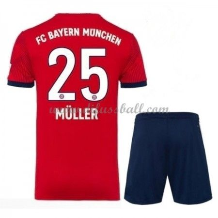 Bayern Munchen Fussballtrikots Kinder 2018 19 Thomas Muller 25 Heim Trikotsatz Kurzarm Mit Bildern Fussballtrikots Fussball Trikot Kinder