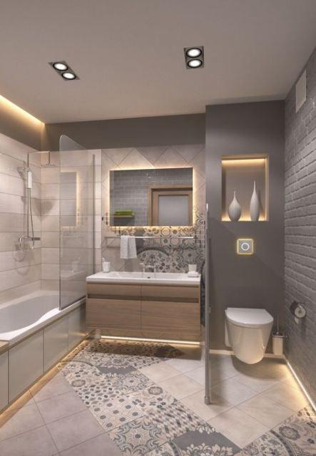 47 Ideas Farmhouse Bathroom Vanity Ikea For 2019 Farmhouse Small Master Bathroom Small Bathroom Styles Bathroom Remodel Master