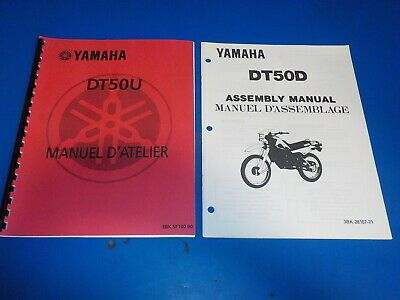 Advertisement Ebay Yamaha Assembly Manuals Set Of 2 Dt 50 U Dt 50 Used Motorcycle Parts And Accessories Yamaha Manual