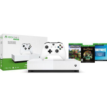 Microsoft Xbox One S 1tb All Digital Edition 3 Game Bundle Disc Free Gaming White Njp 00050 Walmart Com In 2020 Xbox One S Xbox One S 1tb Xbox One Console