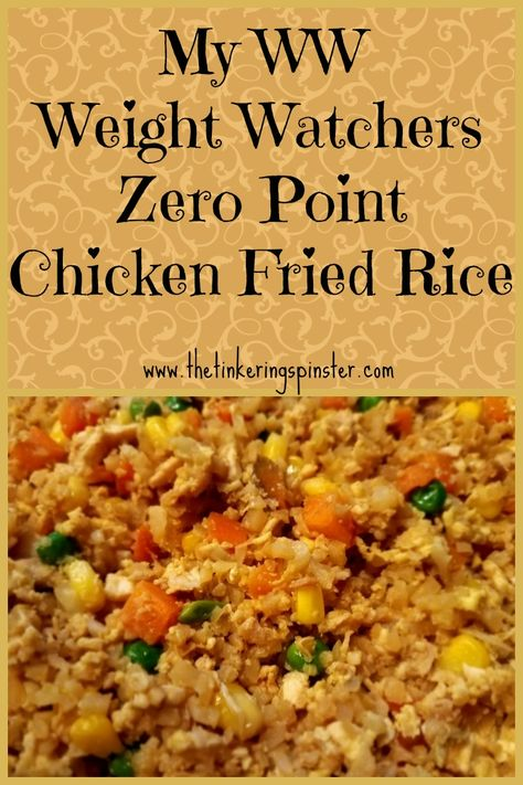 Weight Watchers Recipes Discover My WW Zero Point Chicken Fried Rice Enjoy this chicken fried rice recipe using riced cauliflower instead of the traditional rice. It is zero points on the Weight Watchers Freestyle program! Weight Watcher Dinners, Weight Watchers Program, Weight Watchers Meal Plans, Weight Watchers Diet, Weight Watchers Meatloaf, Weight Watchers Pancakes, Weight Watchers Casserole, Weight Watchers Breakfast, Weight Watchers Points