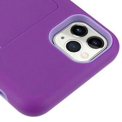 Mybat Poket Hard Hybrid Plastic Tpu Case W Card Slot For Apple Iphone 11 Pro Max Purple Iphone Apple Iphone Iphone 11