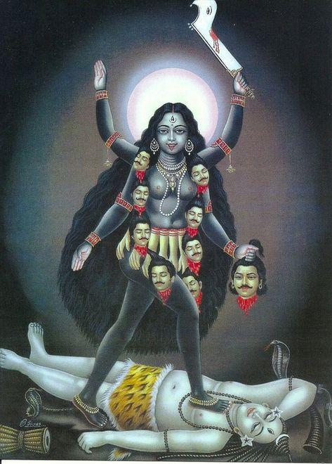Madre Kali Lamina Imagen Diosa Kali Kali Mata