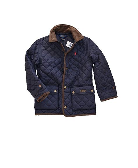 c5934c09 Ralph Lauren Polo Boys Quilted Jacket Barn Coat 3T. Polo Ralph Lauren.  Boy's quilted Jacket. Color: Aviator Navy with brown corduroy trim. Size:  3/3T.
