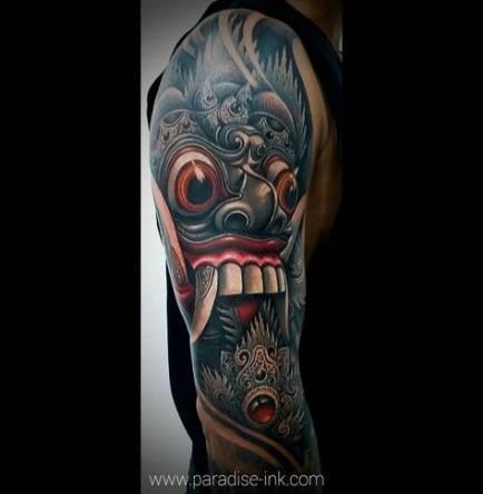 Black Art Tattoo Arm