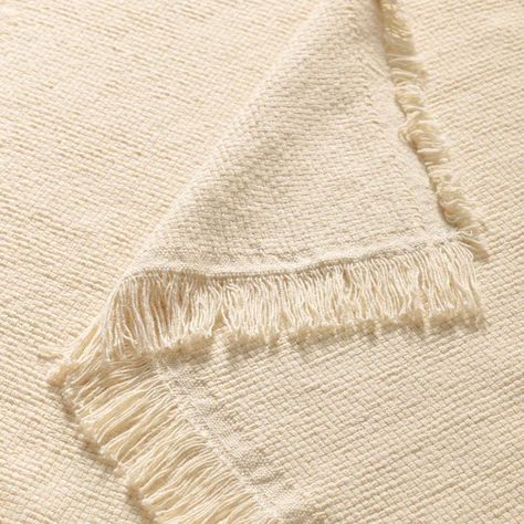 IKEA - ODDRUN, Throw, natural/beige, Cotton is a soft and easy-care natural material that you can machine wash. Undyed and unbleached cotton has natural color variations which makes every throw unique.