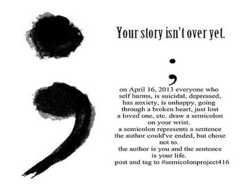 Project semicolon is a beautiful project that is helping people through love.