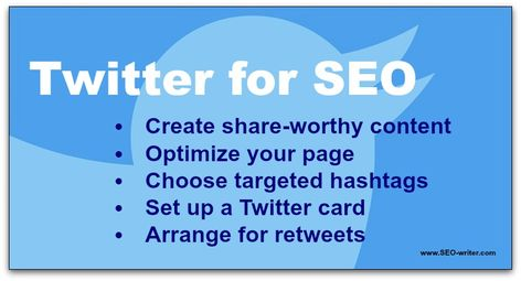 Twitter tips for SEO – how Twitter can help your website or blog rank higher