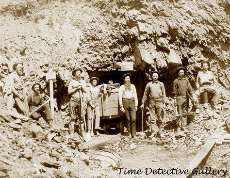 Miners at Montana Mine, Lawrence County, S. Dakota - 1889 - Historic Photo Print  | eBay