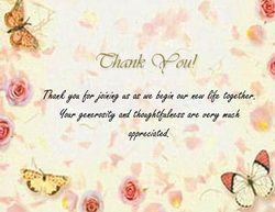wedding gift thank you card template