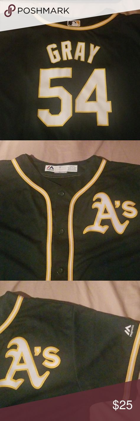 Oakland A's Sonny Gray Jersey Youth XL Oakland Athletics Majestic Shirts & Tops Tees - Short Sleeve