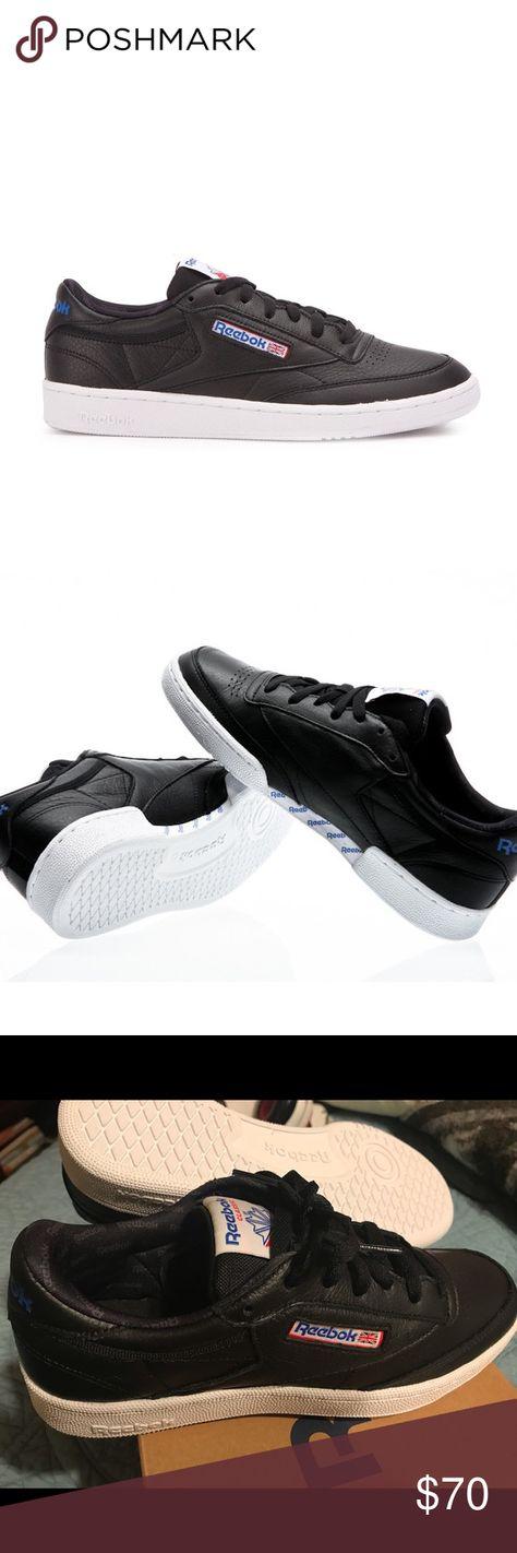 Reebok Men s Club C 85 SO Black Leather Shoes Brand new never worn pair of  Reebok dcb0e05e9