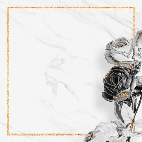 Blank golden square frame vector | premium image by rawpixel.com / NingZk V.