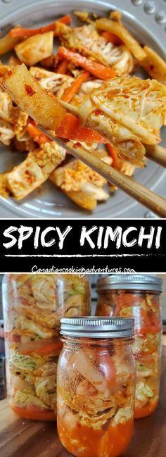Spicy Korean Kimchi   #Spicy #Korean #Kimchi #Recipe #Recipes #Canadiancookingadventures #Food #Radish #Probiotic