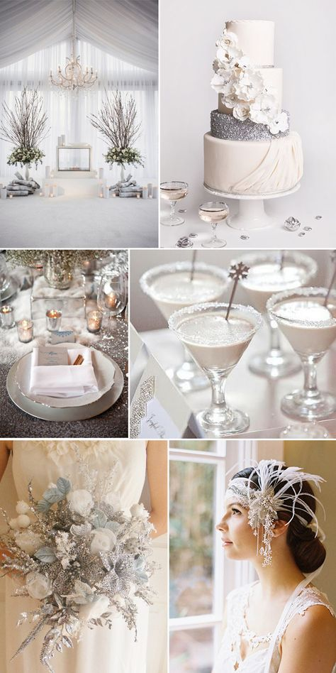 Ideas for 2014 Winter Wedding in Gray, Silver, Plum, Pink, Blue