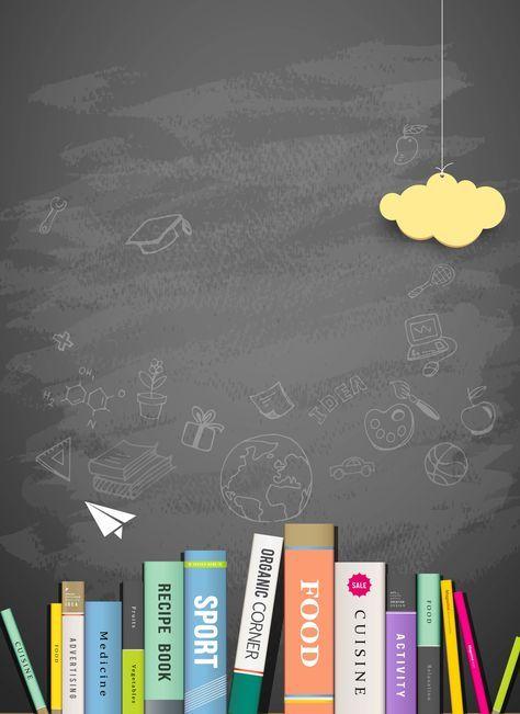 Vector Graffiti Book Creative Educational Background Blackboard
