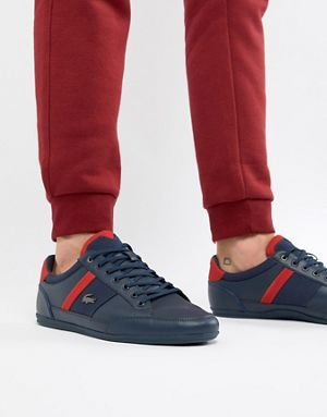 lacoste chaymon trainers navy - 56% OFF