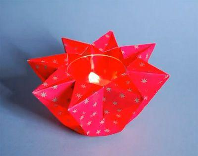 teelichter basteln windlicht stern sonstige sterne toller pinterest origami winter christmas and xmas teelichthalter kinder