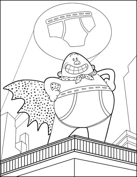 Captain Underpants Coloring Pages Captain Underpants Coloring