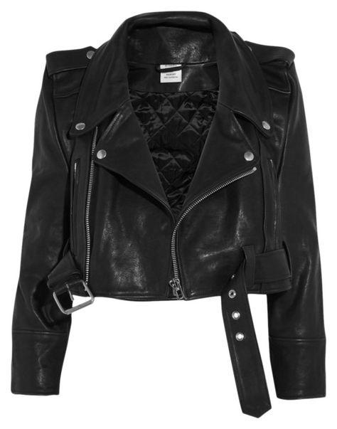 Shop and buy Vetements clothing online Cropped Leather Jacket, Leather Jackets, Heavy Jacket, Estilo Rock, Riders Jacket, Blazer Jacket, Moto Jacket, Motorcycle Jacket, Outerwear Jackets