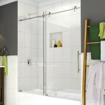 34 X 58 Frameless Tub Door Tub Doors Shower Doors Frameless Shower Doors