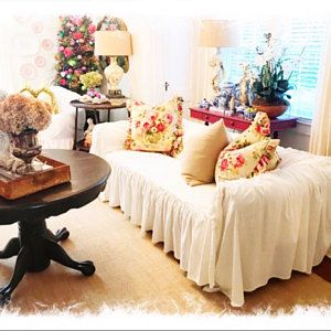 Superb Slipcover Ruffled Slipcover Sofa Cover Sofa Scarf Gmtry Best Dining Table And Chair Ideas Images Gmtryco