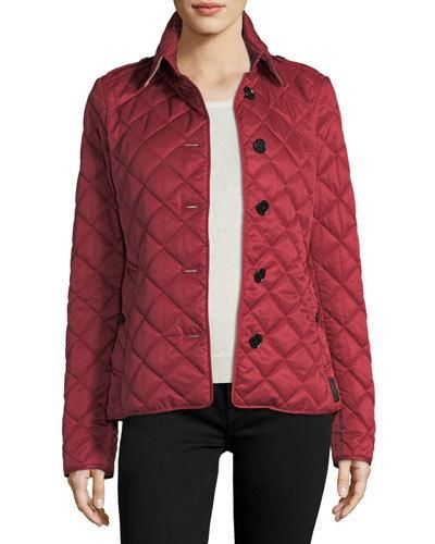 Burberry Frankby Quilted Jacket Parade Red Jackets Quilted Jacket Burberry