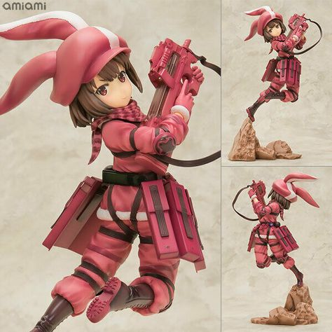 Sword Art Online Alternative Gun Gale Llenn Pitohui Fukaziroh Figure Set SEGA